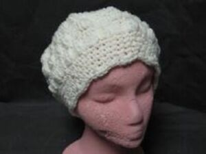 HAND CROCHETED CREAM COLOR HAT NEW