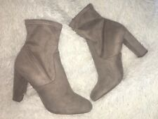 Steve Madden Faux Suede Taupe Echo Edit High Ankle Bootie SZ 12 NEW