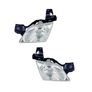 Headlights Pair Set for 97-05 Chevy Venture/97-04 Oldsmobile Silhouette