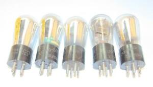 5 Globe style UX-201A radio amplifier tubes. Well known brands.TV-7 test strong.