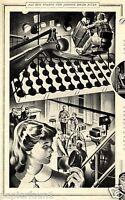 Zigaretten Astor XL Reklame von 1954 Filmset Hollywood Film Beleuchter Werbung