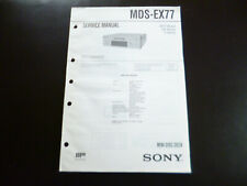 Original Service Manual Schaltplan  Sony MDS-EX77