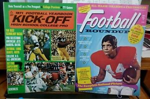 FOOTBALL MAGAZINE(2) LOT 1971 KICK-OFF, 1971 SPORTS QUARTERLY ED MARINARO COVERS