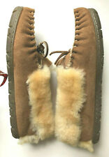 LL Bean Women's Wicked Good Moccasin Suede Shearling Slippers 10 M - Barely used