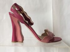Prada FAIRY Pink WAVE Sandals Ankle Strap Size 40 US 9 9.5