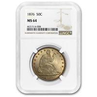 1876 Liberty Seated Half Dollar MS-64 NGC - SKU#179299