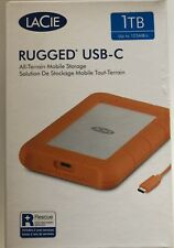 LaCie 1TB Rugged USB-C , USB and Thunderbolt 3 Compatibility-Brand New- Fast DEL