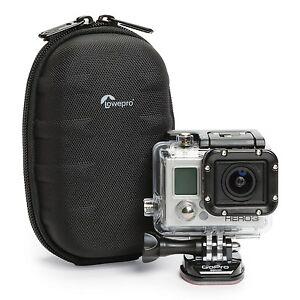 Lowepro Santiago DV 35 Camcorder Bag -Hard Shell Camcorder/Action Cam Case Black