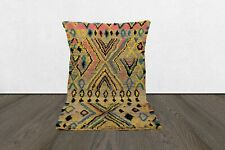 vintage Moroccan 4x6 berber area rug,Handmade tribal wool worn azilal woven rug