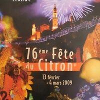 N2250 2 Póster Música Mundo Fiesta Lima Menton Art Decorado Pn Francia