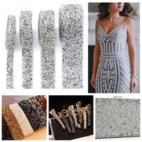 Bling Crystal Rhinestone Ribbon Resin Sewing Trim Wedding Dress Costume Decor