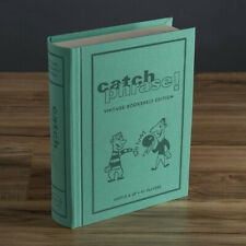 Catch Phrase Vintage Bookshelf Edition Deluxe Linen Book Board Game New