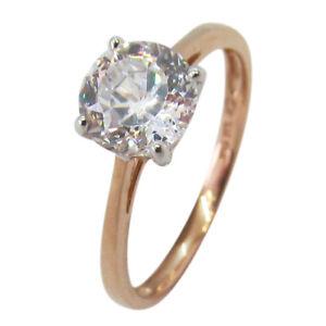 9ct Rose Gold 1.25ct Single CZ Engagement Ring
