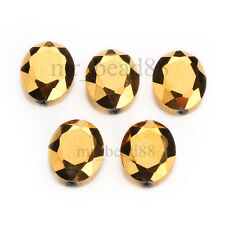 10pcs Colorful 20mm Faceted Crystal Glass Oval Spacer Beads Jewelry Finding HOT