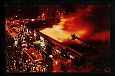 Fire Fighting postcard New York City NY, Yonkers, 3 Alarm Fire view aerial