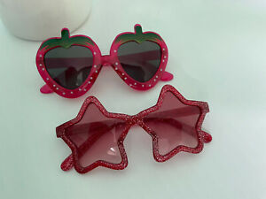 New Baby Toddler Gap Red Star & Strawberry Shaped Sunglasses 2 Pair Set Cute