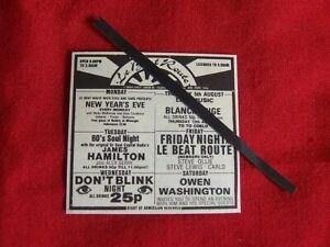 LE BEAT ROUTE SOHO LONDON ORIGINAL 1982 VINTAGE ADVERT YOUTH CLUB CULTURE