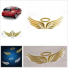 Car SUV Logos Tail Golden 3D Guardian Angel Wings Emblem Graphicsl Sticker
