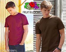 STOCK 100 PEZZI T-Shirt FRUIT OF THE LOOM SUPER PREMIUM Maglietta Maniche Corte#