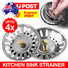 2/4x Stainless Steel Kitchen Sink Strainer Waste Plug Filter Drain Stopper Stock