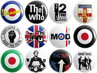 12 x Mod - Various Designs - BUTTON PIN BADGES 25mm 1 INCH | Jam Who Weller v2