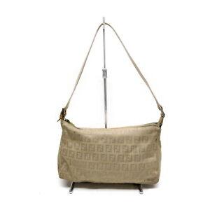 Fendi Accessories Pouch Bag Zucchino Beiges Canvas 1520880