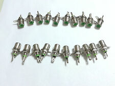 100pcs  metal RCA Phono Chassis Panel Mount Female Socket adapter green
