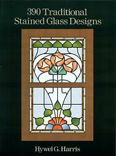 390 Traditional Stained Glass Designs Book, Books, Victorian, Edwardian, 1920s