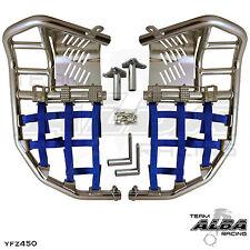 Yamaha YFZ 450  Nerf Bars  Pro Peg  Alba Pro Elite  Silver Blue 199 T7 Sl