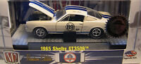 WHITE 1965 FORD SHELBY GT350R MUSTANG M2 MACHINES 1:64 SCALE DIECAST METAL CAR