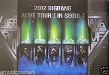 "BIG BANG ""2012 ALIVE TOUR"" ASIAN PROMO POSTER - K-Pop Music Korean Boy Band"