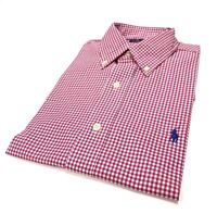 Ralph Lauren Men's Classic Fit Checked Shirt In Hot Pink Size S