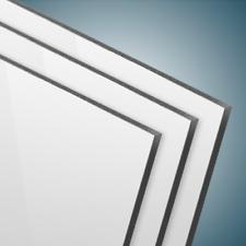 Dibond® Aluverbundplatte 3mm Weiß matt/glänzend 0,3mm Decksicht