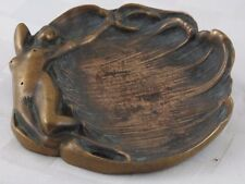 Full Frontal Nude Lady Brass/Bronze Dish/Tray  JZ-0583