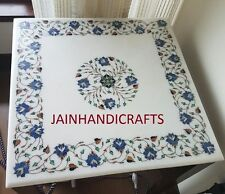 "30"" DINING LUNCH BREAKFAST COFFEE CORNER SQUARE CENTER TABLE TOP INLAY MALACHITE"