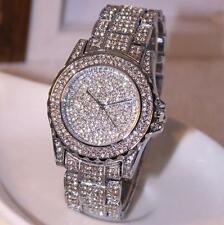 Luxus Damenuhr Strass Ceramic Kristall Quarz Analog Armbanduhr Rund Dress Watch