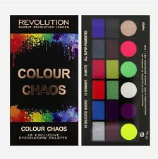 MAKEUP REVOLUTION Salvation EYESHADOW PALETTE 18 COLOUR CHAOS-NEON ACID BRIGHTS