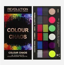 MAKEUP REVOLUTION Rainbow EYESHADOW PALETTE 18 COLOUR CHAOS-NEON ACID BRIGHTS