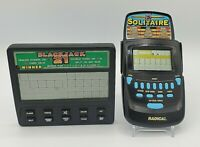 Lot of 2 Handheld Electronic Games - Blackjack 21 Radica Solitaire TESTED WORKS