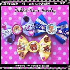 Rilakkuma Breakfast Space Kitty Kawaii Teddy Bear Hair Bows