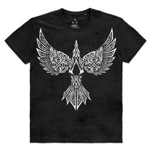 ASSASSIN'S CREED Valhalla Raven T-Shirt, Male, Extra Large, Black