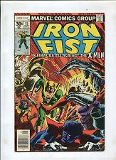 IRON FIST #15 (8.5) VS. X-MEN. JOHN BRYNE