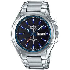 Casio Men's Silvertone Bracelet Watch, Super Illuminator, 50 Meter,MTPE200D-1A2V
