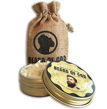 2.5oz BEARD BUTTER + SACK by BEARD of GOD™ Organic & Handmade | VANILLA TOBACCO