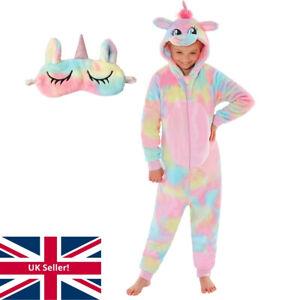 World Book Day Rainbow Unicorn 1Onesie Onezi Girls Fleece Sleep Mask Little Pony