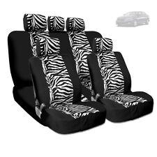 NEW PREMIUM GRADE BLACK MESH ANIMAL ZEBRA TIGER PRINT SEAT COVERS FOR KIA