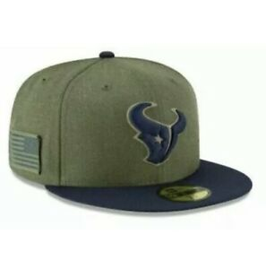 Houston Texans NFL SALUTE TO SERVICE NEW ERA 59FIFTY FITTED 7-3/4 HAT Cap Fitted