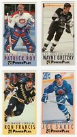 1993-94 Fleer Power Play LOT Wayne Gretzky, Patrick Roy, Joe Sakic, Ron Francis