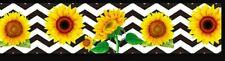 "1"" 2 Yards Sunflower Grosgrain Ribbon Hair Bows Scrapbook Cards Crafts Gift Wrap"