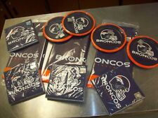 "NFL Denver Broncos Plastic Table Cloth Cover 54""x102"" Football Party Plates napk"